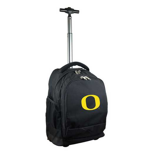 CLODL780-BK: NCAA Oregon Ducks Wheeled Premium Backpack